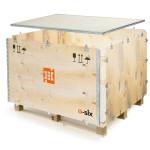 Explosionsdarstellung der E-SIX Kiste